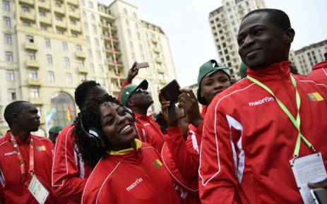 FILE: Athletes from Cameroon arrive at the athlete's village during Baku 2017 4th Islamic Solidarity Games in Baku on 11 May 2017. Picture: AFP