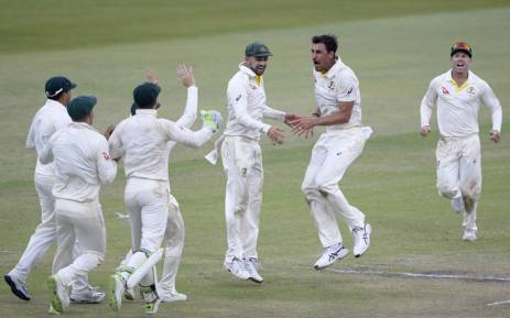 Australia celebrate victory in the first Test against South Africa at Kingsmead on 5 March 2018. Picture: @OfficialCSA/Twitter