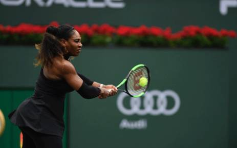 FILE: Serena Williams pictured during the BNP Paribas Open Picture: @BNPPARIBASOPEN/Twitter.