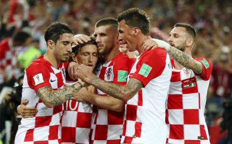 The Croatian football team at the 2018 Fifa World Cup in Russia. Picture: Twitter/HNS_CFF