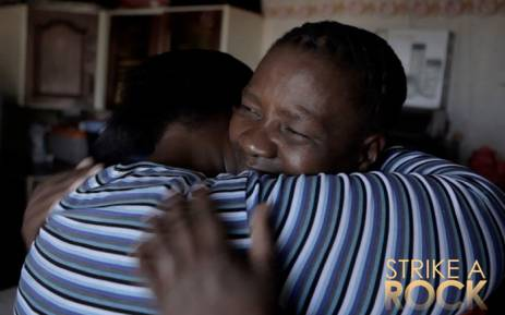 Primrose Sonti and Thumeka Magwangqana in the documentary 'Strike a Rock'. Picture: Strikearock.co.za