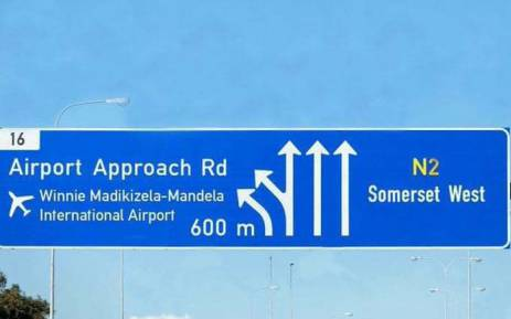 A photoshopped picture of a sign of Winnie Mandela Airport. This is not a real image. Picture: Facebook.