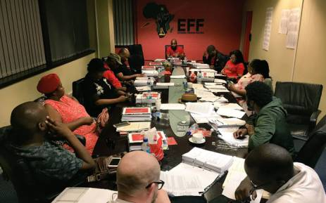 An EFF war council meeting. Picture: EFF/Twitter