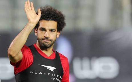 Egypt's Mohamed Salah waves for fans during a World Cup training session at  Cairo international stadium on 9 June 2018. Picture: Reuters.