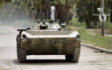 FILE: A Syrian army tank on patrol. Picture: AFP