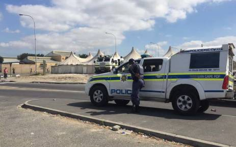 FILE: A Police van seen in Delft following the fatal shooting of a taxi driver. Picture: Monique Mortlock/EWN