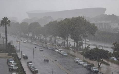 FILE: Hail and sleet in Cape Town. Picture: EWN