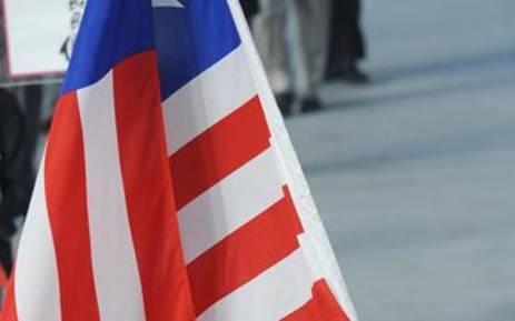 Liberia flag. Picture: AFP.