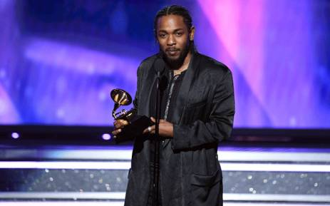 Recording artist Kendrick Lamar accepts Best Rap Album for 'DAMN.' onstage during the 60th Annual GRAMMY Awards at Madison Square Garden on 28 January, 2018 in New York City. Picture: AFP