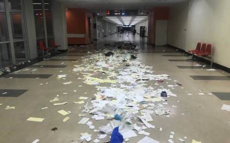 A view of one of the corridors at Charlotte Maxeke Academic Hospital following a chaotic strike by disgruntled workers over wage increase and bonuses. Picture: Christa Eybers/EWN