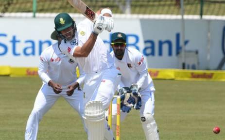 FILE: Proteas batsman Aiden Markram working the ball away. Picture: @OfficialCSA/Twitter