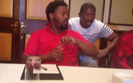 FILE: EFF MP Andile Mngxitama addresses the media at the Cape Sun Hotel in Cape Town on 12 February 2015. Picture: Lauren Isaacs/EWN.