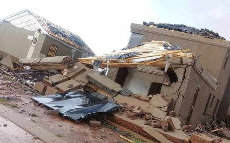 A damaged home following a hailstorm in Johannesburg on 30 December, 2017.  Picture: Supplied.