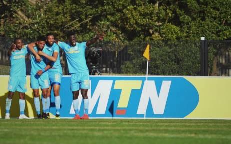 Cape Town City FC players celebrate a goal. Picture: @CapeTownCityFC/Twitter