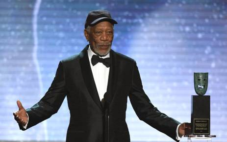 Morgan Freeman accepts the Life Achievement Award onstage during the 24th Annual Screen Actors Guild Awards show at The Shrine Auditorium on 21 January, 2018 in Los Angeles, California. Picture: AFP