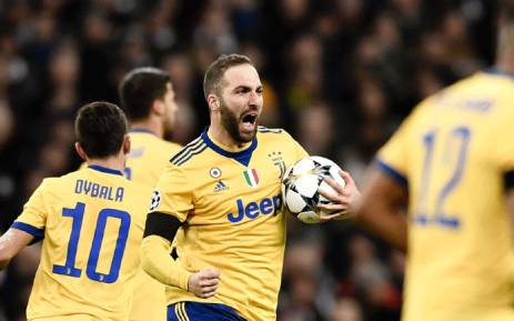 Juventus forward Gonzalo Higuain celebrates his goal against Tottenham Hotspur in the Uefa Champions League second-leg on 7 March 2018. Picture: Facebook