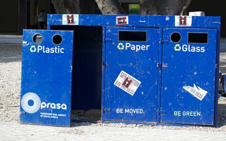 FILE: Recycling bins at Cape Town Station. Picture: EWN