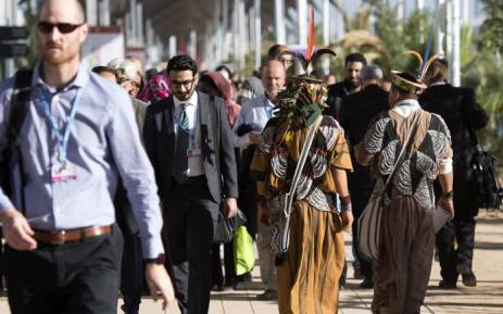 Delegates attend the COP22 international climate conference on 9 November 2016 in Marrakesh. Picture: AFP.