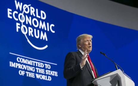 US President Donald Trump. Picture: @wef/Twitter.