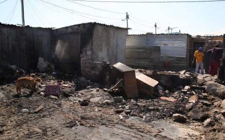 FILE: Six people including three children died in a shack fire in Philippi. Photo: Bertram Malgas/EWN.