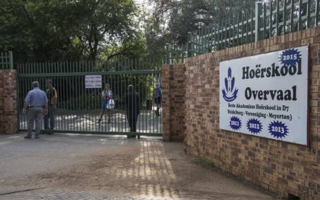 FILE: Hoërskool Overvaal in Vereeniging where EFF members are protesting the school's admission policy on 17 January 2018. Picture: Ihsaan Haffejee/EWN