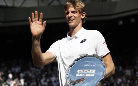 Kevin Anderson with the runners-up trophy following the Wimbledon final on 15 July 2018. Picture: @KAndersonATP/Twitter