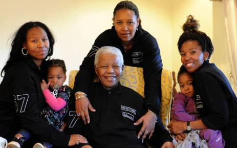 Nelson Mandela is seen with his family in Qunu in the Eastern Cape on 18 June 2011. Picture: Peter Morey/SAPA
