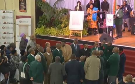 A screengrab of Winston Ntshona's funeral service in Port Elizabeth on 10 August 2018.
