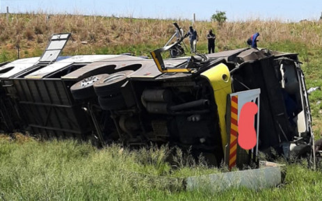 A a bus crash on the N3 near the Tugela River, in KwaZulu-Natal, claimed 9 lives on 12 October 2021. Picture: KZN EMS/Supplied.