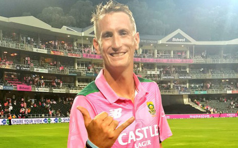 Proteas all-rounder, Chris Morris, scored 62 off 38 balls during the fourth Pink Day on 12 February 2016. Picture: CSA