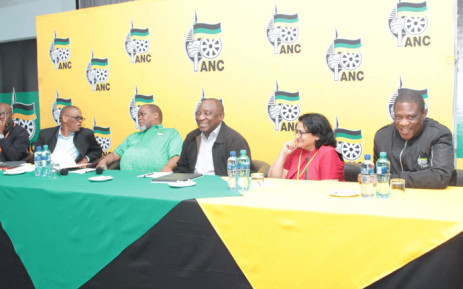 ANC leadership at the party's special NEC meeting on 29 September 2019 in Pretoria. Picture: @MYANC/Twitter.