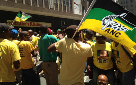 FILE: ANC supporters march through the streets of Johannesburg. Picture: Reinart Toerien/EWN.