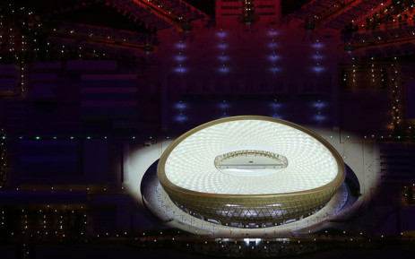 This handout picture released by the Supreme Committee for Delivery and Legacy shows a scale model of the Lusail stadium for the world cup 2022 during the unveiling of its design in Doha on 15 December 2018. Picture: AFP