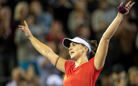 Bianca Andreescu of Canada celebrates her victory against Venus Williams of the US during their women's singles quarter-final match at the ASB Classic tennis tournament in Auckland on 4 January 2019. Picture: AFP