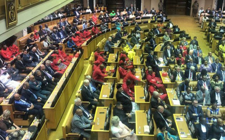 Members of Parliament sit in the National Assembly during President Cyril Ramaphosa's State of the Nation Address on 7 February 2019. Picture: EWN