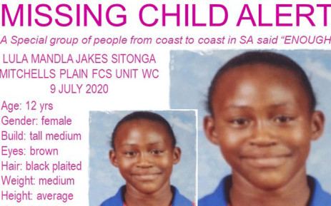 Lunamandla Sithonga has been missing since 9 July 2020. Picture: Pink Ladies/facebook.com