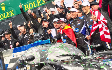 The Wayne Taylor Racing celebrate victory at the 24 Hours of Daytona on 27 January 2019. Picture: @alo_oficial/Twitter