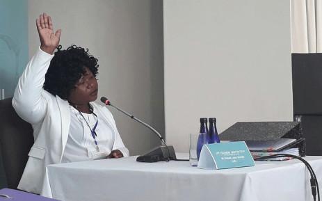 Nursing manager Dikeledi Manaka at the Esidimeni arbitration hearing in Johannesburg. Picture: Masego Rahlaga/EWN