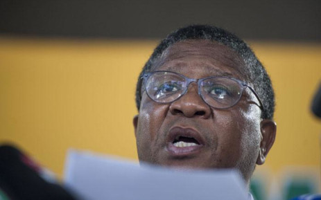FILE: Fikile Mbalula is seen as he delivers a press conference on the outcomes of the commission on organisational renewal at the ANC's 54th elective conference. Picture: EWN