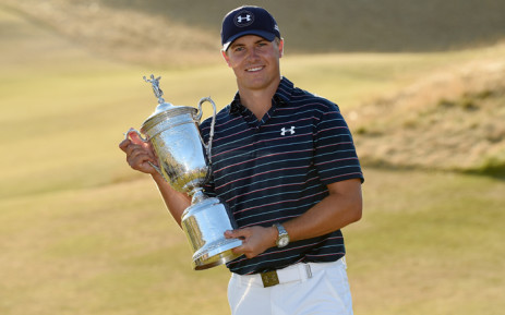 FILE: Jordan Spieth of the United States poses with the trophy after winning the 115th US Open Championship at Chambers Bay on 21 June, 2015 in University Place, Washington. Picture: AFP.