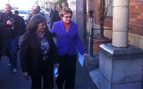 Western Cape Premier Helen Zille and Cape Town Mayor Patricia De Lille laid charges against the ANC Youth League on 1 August 2012. Picture: Nathan Adams/EWN