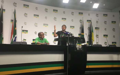 ANC head of elections Fikile Mbalula briefs media on voter registration and the party's plans. Picture: Kgomotso Modise/EWN.