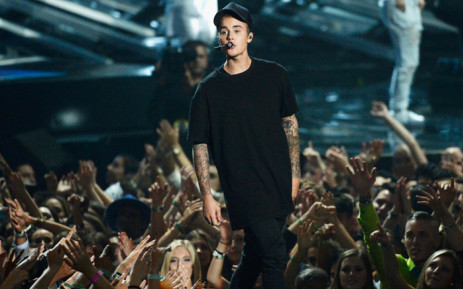 Recording artist Justin Bieber performs onstage during the 2015 MTV Video Music Awards at Microsoft Theater on August 30, 2015 in Los Angeles, California. Picture: AFP.