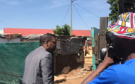 Gauteng Education MEC Panyaza Lesufi arrives at the home of Laticia Jansen who was raped and murdered. The MEC meet with the late pupil's family on Monday, 27 January 2020. Picture: Bonga Dlulane/EWN.