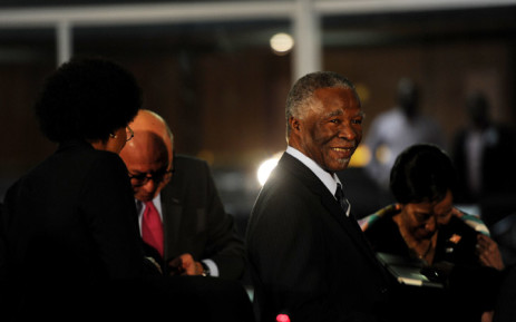 Former president Thabo Mbeki during a break in proceedings at the Seriti Commission of Inquiry where he is testifying in Pretoria on 17 July 2014. Picture: Sapa
