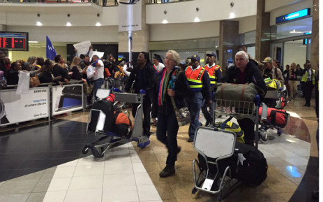Trek4Mandela team has arrived at the OR Tambo International  Airport on 20 Juky 2016. Picture: Gia Nicolaides/EWN