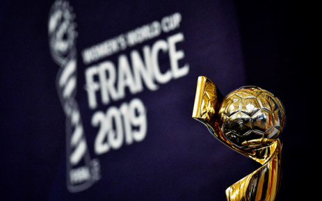 The Fifa Women's World Cup trophy on display ahead of the draw for the 2019 Women's World Cup in Paris on 8 December 2018. Picture: AFP