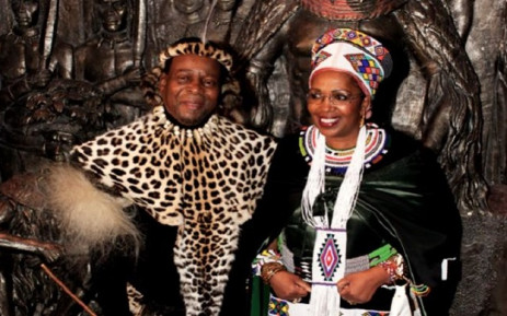A screenshot of Queen Mantfombi Ladlamini-Zulu and the late King Goodwill Zwelithini. Picture: SABC News.
