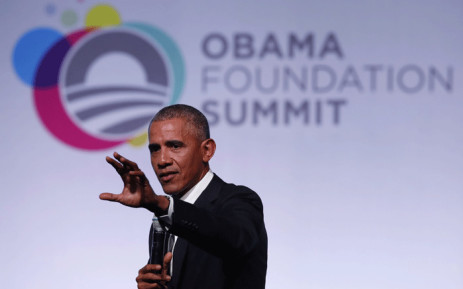FILE: Former US President Barack Obama speaks at the Obama Foundation Summit in Chicago, Illinois, 31 October, 2017. Picture: AFP