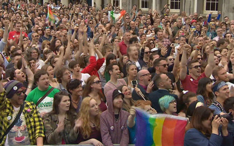 People celebrate in Ireland following the legalisation of same-sex marriages, Picture: Supplied.